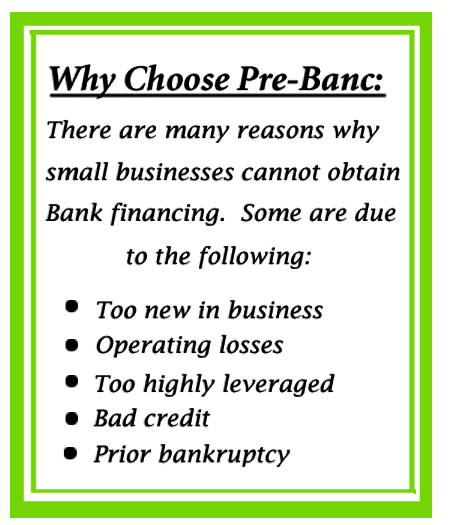 why choose Pre-Banc